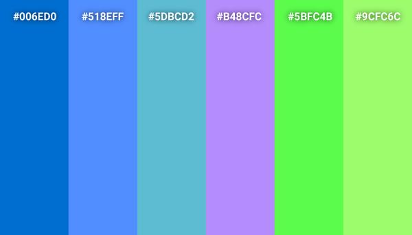 Monsters, Inc. color scheme