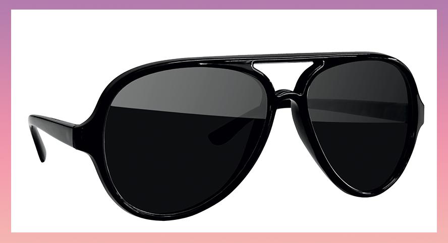 Oversize sunglasses all black