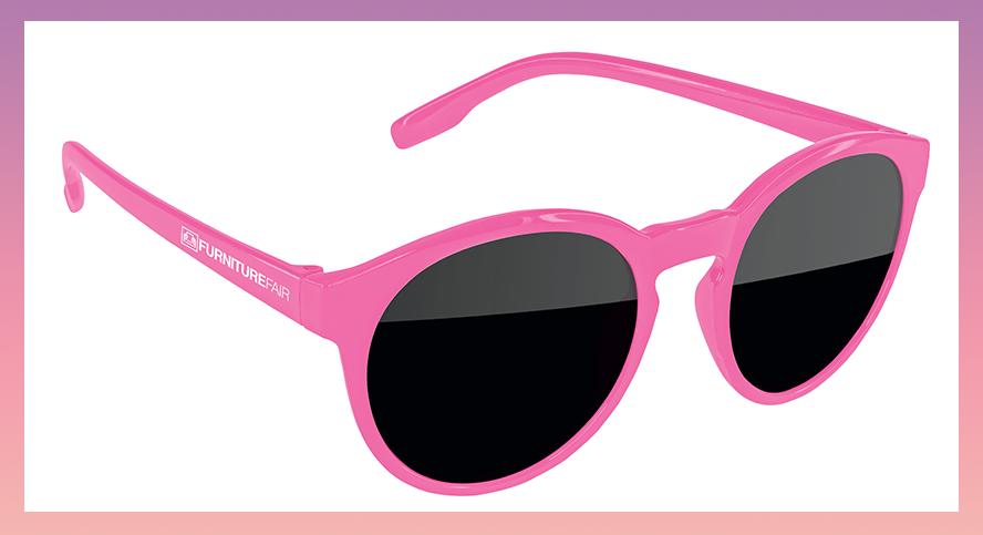 Pink custom sunglasses