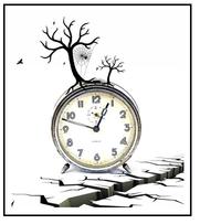 Cobweb clock
