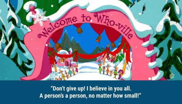 Don't give up Dr. Seuss quote