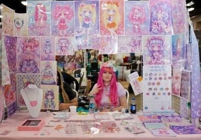 Artist Alley anime display