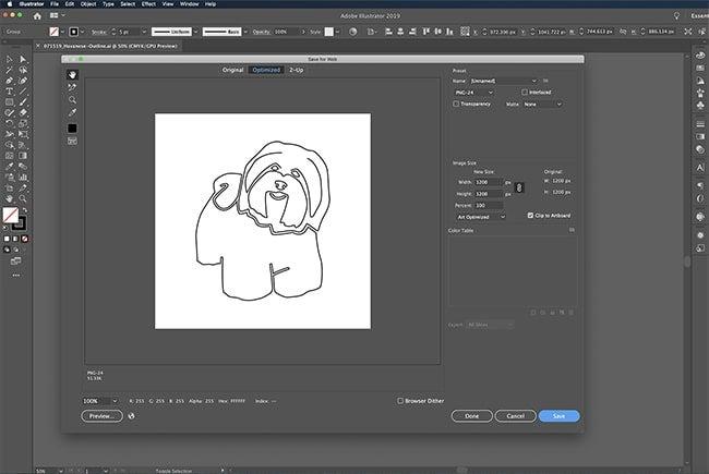 Adobe Illustrator Export