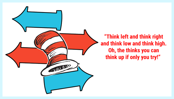 Think left and think right quote