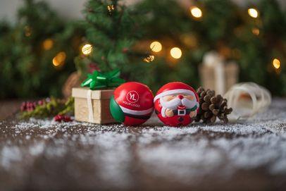 Santa shaped stress balls