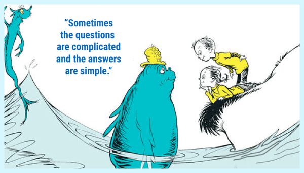 Sometimes the questions are complicated Dr. Seuss quote
