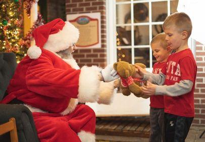 Santa teddy bear donation