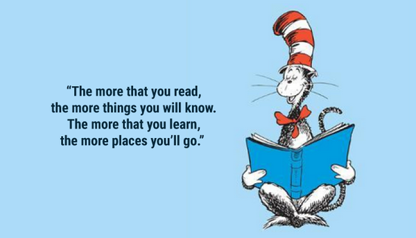 The more that you read Dr. Seuss quote