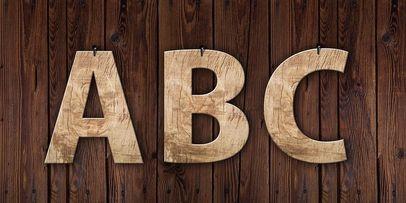 Wooden ABCs