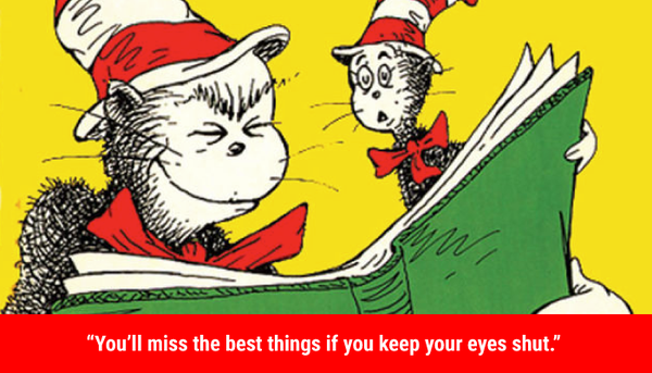 You'll miss the best things if you keep your eyes shut quote