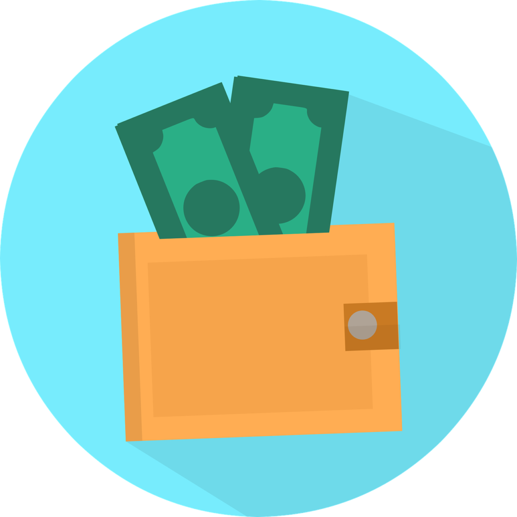 money in a wallet graphic