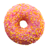 realistic donut with sprinkles graphic
