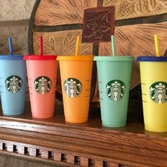 Starbucks color-changing tumblers