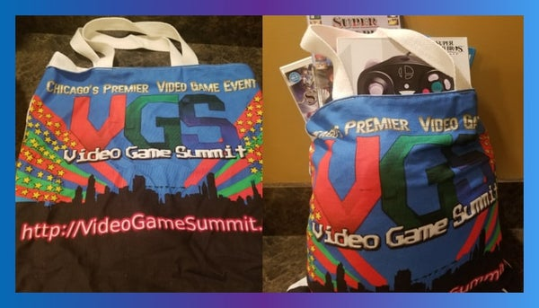Video Game Summit tote bags