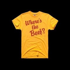 Where's the Beef? Wendy's t-shirt