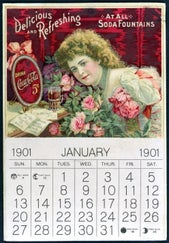 Coke calendar with Hilda Clark