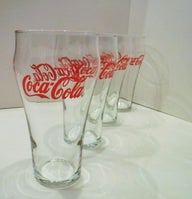 vintage coke glasses