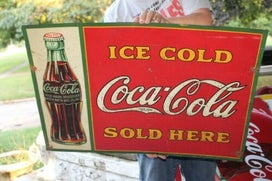 old Coke tacker signs
