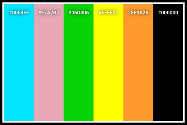 Powerpuff Girls color palette