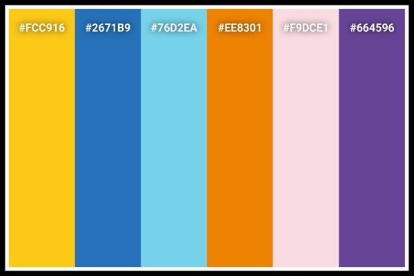 Pokemon color palette