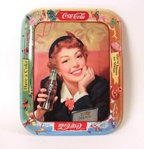 coca-cola serving trays