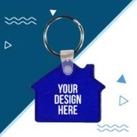 custom house-shaped keychains