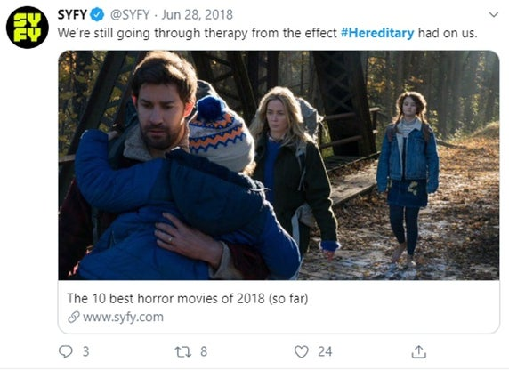 Tweet about Hereditary