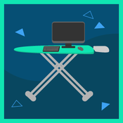 ironing board as a desk