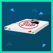 pizza box mouse pad