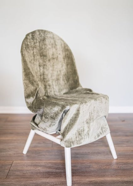 turn a kitchen chair into an office chair step 5