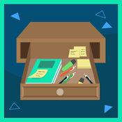 drawer with supplies in it graphic
