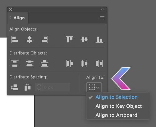 Adobe Illustrator Align Tool