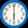 blue clock graphic