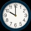 dark blue clock graphic