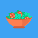 bowl of salad graphic