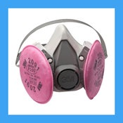 p100 respirator/gas mask
