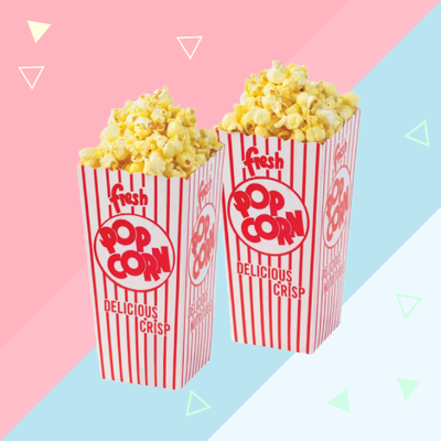 Mini popcorn bags for baby shower