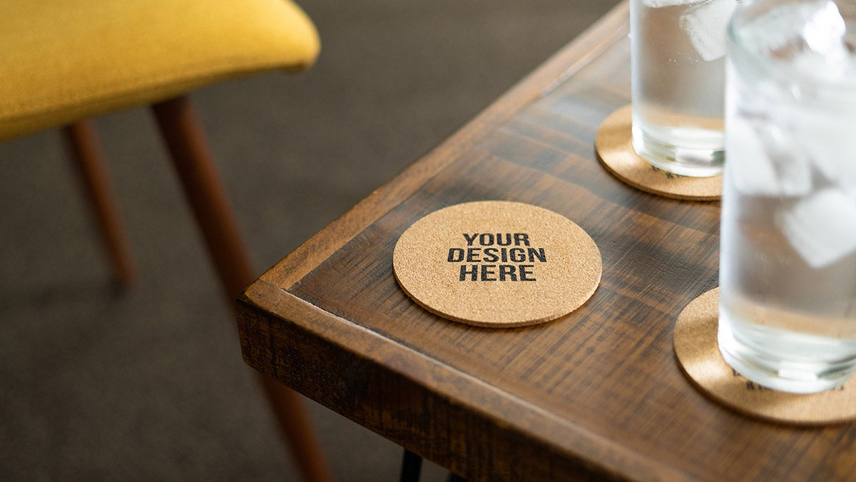 One Word: Chipboard Coasters
