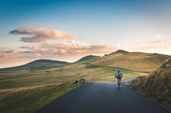 virtual running or cycling