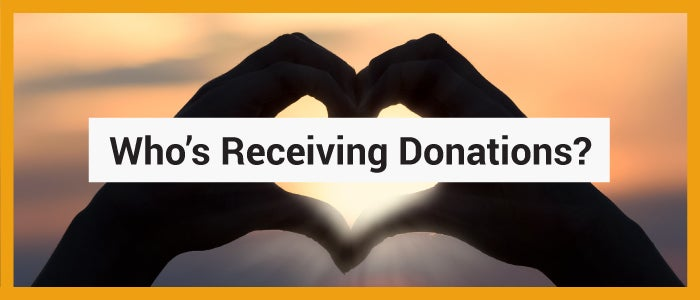 Who's Receiving Donations