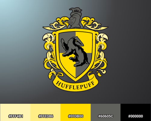 Hufflepuff color palette