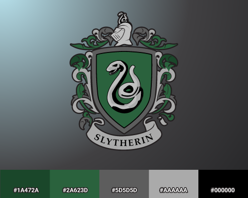Slytherin color palette
