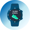 wearable pedometer graphic