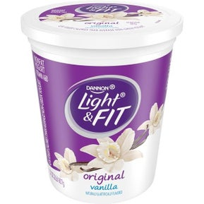 Vanilla yogurt container