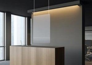 hanging plexiglass shield