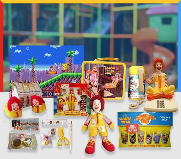 McDonald's merchandise over the years