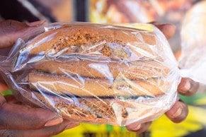 food in saran wrap