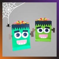 Frankenstein treat bags for Halloween