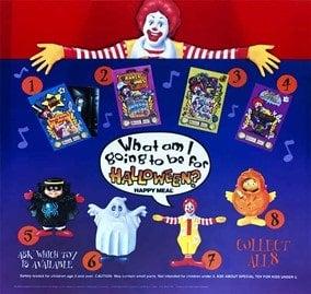 McDonald's Halloween Happy Meal toys