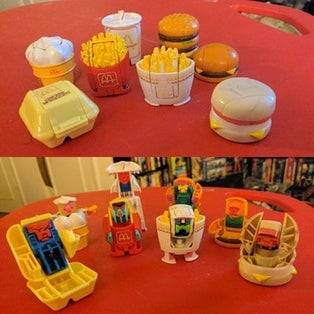McRobots Happy Meal Toys 1987